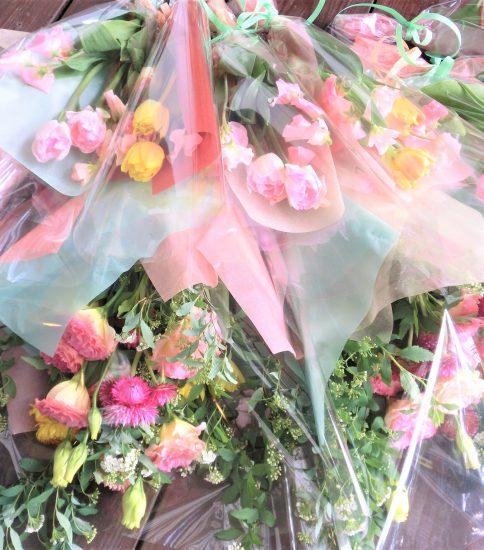 卒園式の花束